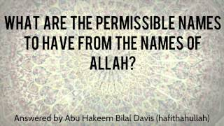 getlinkyoutube.com-What are the names of Allah that are permissible to have? - Abu Hakeem