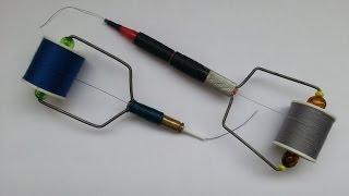getlinkyoutube.com-Как сделать бобинодержатель для вязания мушек своими руками.