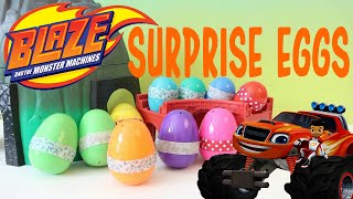 getlinkyoutube.com-Blaze and the Monster Machines with Paw Patrol Surprise Egg Opening Full Episode