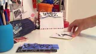 getlinkyoutube.com-Demize graffiti sticker pack,free sticker unboxing