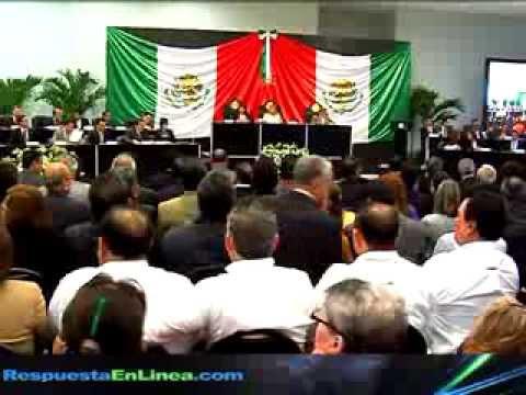 Primera Sesión del Congreso del Estado en Reynosa Tamaulipas.