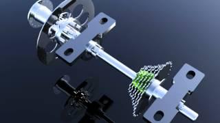 getlinkyoutube.com-CUADRICICLO A PEDAL 04 - Mecanismo de transmisión