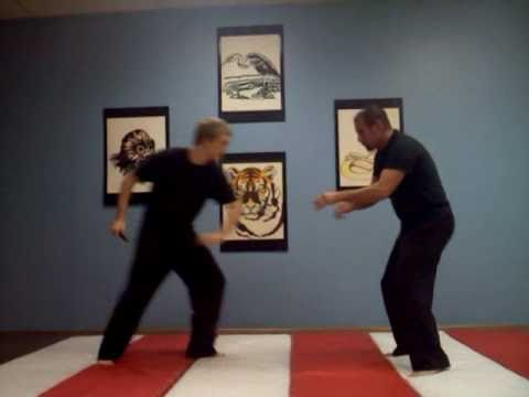Chindo Self Defense - Knife attack defense with roll out
