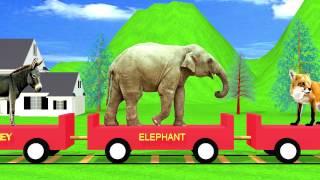 getlinkyoutube.com-The Animal Train | HD Animation