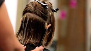getlinkyoutube.com-Cómo hacer un corte de pelo long bob. Laca y tijeras.