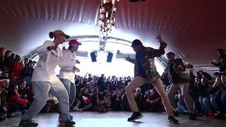 getlinkyoutube.com-Juste Debout Paris 2016 | Hip Hop | Kyoka & Maika vs Regi & Deyvron | Top 32