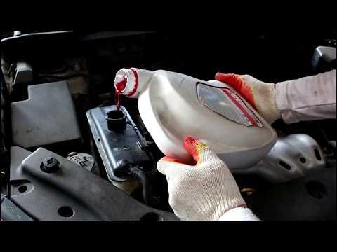 Toyota RAV4 2,0 Тойота РАВ 4 2007 года Замена антифриза в системе охлаждения