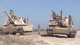 US-Panzer üben für den aktiven Kampfeinsatz