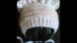 getlinkyoutube.com-Детская шапочка (чепчик) вязание на спицах ч.1. Children cap (cap) knitting part 1