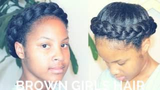 getlinkyoutube.com-Crown Halo Braid | Simple Natural Hair