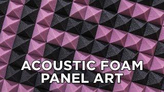 Acoustic Foam Panel Art