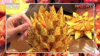 getlinkyoutube.com-Hundreds of paper for one pineapple (Incense art Pt 2)