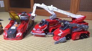 getlinkyoutube.com-【トミカ】ハイパーレスキューZERO+パワードレスキュー車+パワード消防車のスペシャル合体!