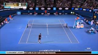getlinkyoutube.com-Wawrinka Vs Djokovic Aus Open 2013 1920 x 1080 mp4 Highlights