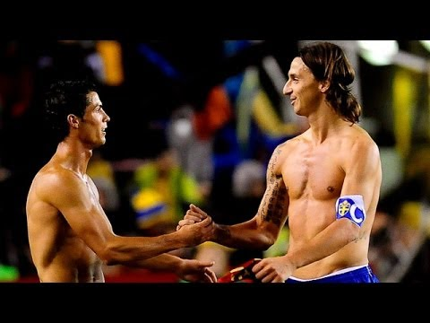 Sweden-Portugal 2-3 Ibrahimovic vs Ronaldo-Collision between legends