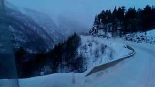 getlinkyoutube.com-Trucking in Norway 10% hill at Junkerdal
