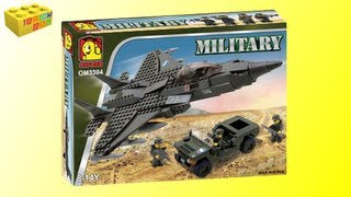 getlinkyoutube.com-Oxford Military Fighter Jet And Jeep OM3304 Review, Lego Compatible