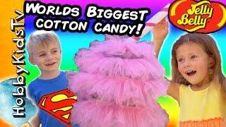 getlinkyoutube.com-Worlds BIGGEST COTTON CANDY Surprise! HobbyRose Jelly Belly by HobbyKidsTV