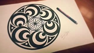 getlinkyoutube.com-Doppler Effect Mandala ❉ How To Draw Geometric Art