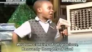getlinkyoutube.com-TB Joshua - FUNNY Little Boy IMITATING PROPHET