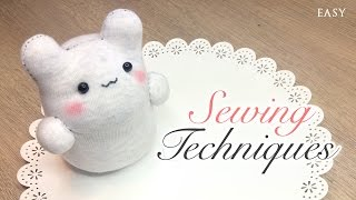 getlinkyoutube.com-Sock Plush Sewing Tips - 6 Techniques on How To Sew Cute Toys
