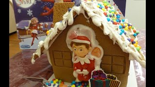 getlinkyoutube.com-Elf On The Shelf Gingerbread House How To