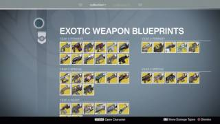 getlinkyoutube.com-EVERY EXOTIC WEAPON IN YEAR 2 AND 1 - Destiny