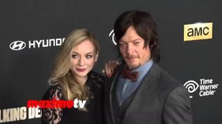 """getlinkyoutube.com-""""The Walking Dead"""" CAST 4th Season Premiere Red Carpet Arrivals"""