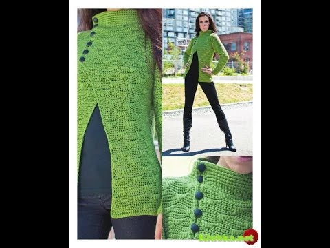 crochet tutorial  cardigan/chaqueta  de primavera