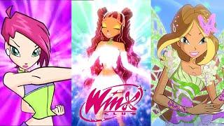 getlinkyoutube.com-Winx Club: All Transformations Up To Butterflix!