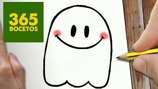 getlinkyoutube.com-COMO DIBUJAR FANTASMA KAWAII PASO A PASO - Dibujos kawaii faciles - How to draw a Ghost