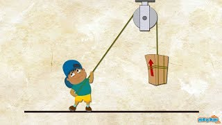 getlinkyoutube.com-What is a Pulley? (With Narration) - Simple Machines | Mocomi Kids