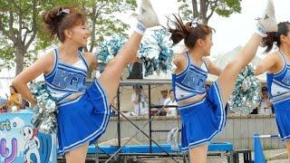 getlinkyoutube.com-女子大生チアリーダー部 DOLPHINS(ドルフィンズ)が会場を盛り上げる