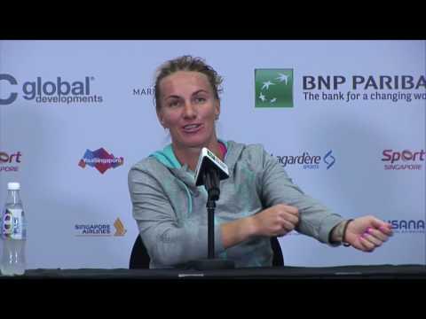 Svetlana Kuznetsova 2016 WTA Finals Signapore Press Conference