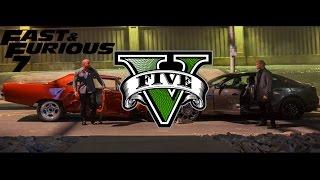 GTA V Furious 7 Cemetery Chase ~ Dom Vs Deckard