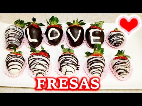 Fresas Con Chocolate Para Día de San Valentín/ Como Hacer Fresas Cubiertas Con Chocolate