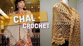 getlinkyoutube.com-Chal Manta - Tejidos a Crochet y Dos Agujas