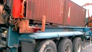 getlinkyoutube.com-side loader transfer kontena