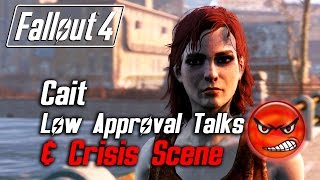 getlinkyoutube.com-Fallout 4 - Cait - All Low Approval Talks & Crisis Scene (Cait Leaves Forever)