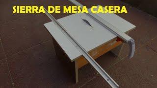 getlinkyoutube.com-Sierra de mesa casera con guia escuadradora y guia para cortes a lo largo