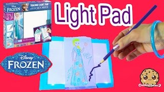 getlinkyoutube.com-Disney Frozen Queen Elsa Tracing Light Up Pad Art Playset Kit Create and Draw - Cookieswirlc Video