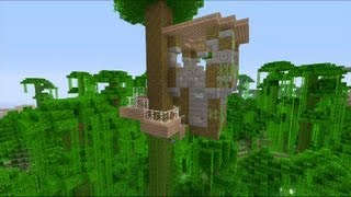getlinkyoutube.com-How to Build a Tree House in Minecraft