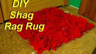 How to Make a Shag Rag Rug from Old Shirts Easily