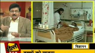 Dr Ravi Malik CMD Malik Radix Healthcare, Nirman Vihar, Delhi speaking on Hepatitis-B Delhi Aaj Tak