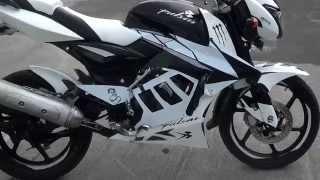 getlinkyoutube.com-Moto pulsar modificada con monoshok y pechera