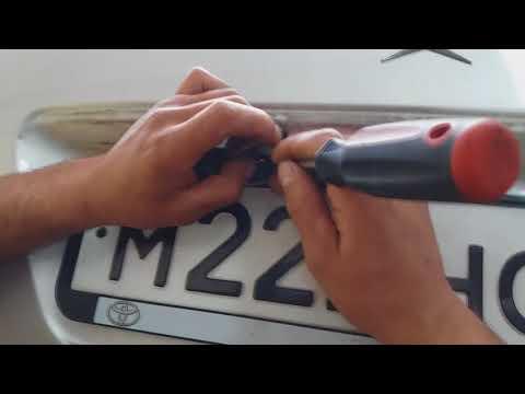 Замена лампочки подсветки номера на Мерседесе W210