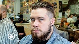 Men's Undercut Quiff Haircut with Beard Maintenance Trim