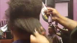 getlinkyoutube.com-How to Silk Press Natural Hair Naked silk press kit