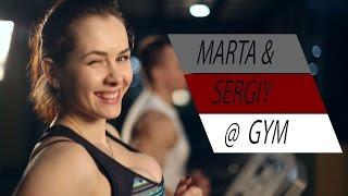 getlinkyoutube.com-MARTA & SERGIY @ GYM - RUN