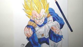 getlinkyoutube.com-Speed Drawing Vegeta SSj (HD) ベジータ